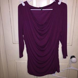 Maurice's purple 3/4 sleeve shirt. Size large